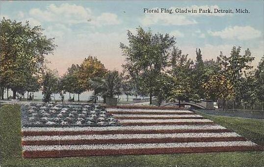 Michigan Detroit Floral Flag Gladwin Park