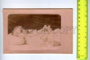 254737 RUSSIA Dead child funeral CABINET PHOTO Flaks SPb