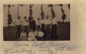 Heidelberg, University? Tiffin, Ohio?  1907, Base Ball Baseball Real Photo Po...