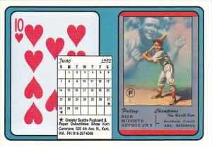 1992 Playing Card Calendar Series June