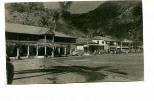 Vintage Postcard RPPC SAMOA Town Scene Buildings Cars Vehicles people unused