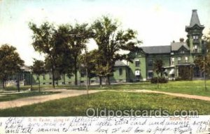 RA Packer Hospital Sayre, PA, USA Postcard Post Cards Old Vintage Antique 1906