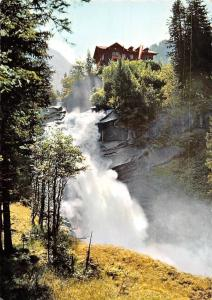 Mittlerer Krimmler Wasserfall mit Alpengasthof Schoenangerl