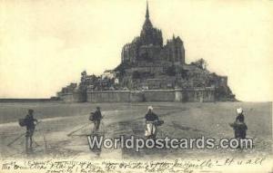 Le Mont Saint Michel, France, Carte, Postcard Greves et Cocuetoeres Le Mont S...
