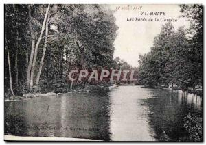 Brive - The Banks of the Correze - Old Postcard