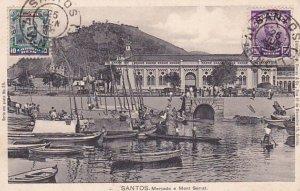 Santos , Brazil , PU-1908 ; Mercado e Mont Serrat
