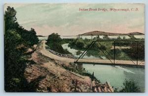 Postcard Canada Nova Scotia Cape Breton Whycocomagh Indian Brook Bridge Q11