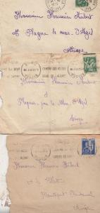 Vosges 5x Mostly WW2 Wartime French Letters Envelope Postmark s