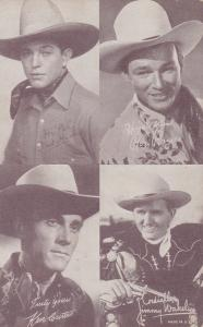 4 Cowboys: Fred Humes, Roy Rogers, Ken Curtiss, Jimmy Wakely, 30s