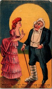 Skipped By The Light Of Moon Baby Snatcher Harrison & Gourlay Theater Trade Card