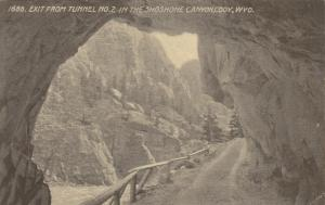 CODY , Wyoming, 00-10s ; Exit from Tunnel No. 2 In the Shoshone Canyon