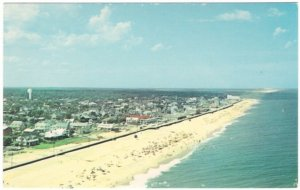 Rehoboth Beach Looking North, Delaware, Vintage Chrome Aerial View Postcard