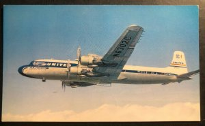 Mint Usa Picture Postcard United Airlines Dc-7s Mainliner Fleet