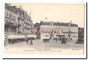 Old Postcard Trouville l & # 39hotel Helder and & # 39hotel Bellevue (Casino ...