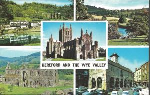 Vintage Postcard Multiview HEREFORD & THE WYE VALLEY by Colourmaster Ltd
