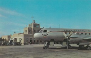 TULSA , Oklahoma , 1954 ; Continental Airlines Prop Airplane at airport