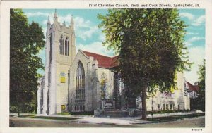 Illinois Springfield First Christian Church Sixth And Cook Streets