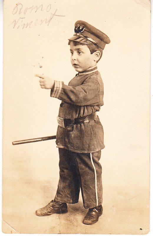 Little Boy Dressed as Policeman