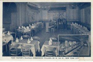 NEW YORK CITY , N.Y. , 1930s ; Greenwich Village , Tony Pastor's Restaurant
