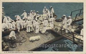 U.S. Marines Embarking for a cruise Military Postcard Postcards  U.S. Marines...