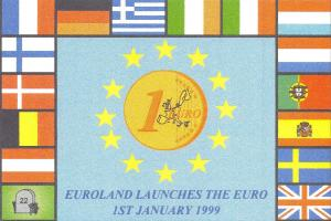 Limited Edition Postcard Euroland Launches The Euro, 1st January 1999 G25