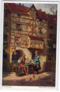 Hans Sachs und Evchen by J Frank