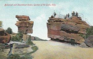 COLORADO SPRINGS, CO, 1900-10s ; Balanced & Steamboat Rocks, Garden of the Gods