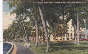 Florida West Palm Beach Royal Worth Hotel On Lake Worth 1944 Curteich