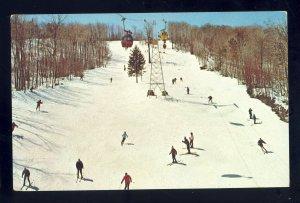 Mt Snow, Vermont/VT Postcard, Skiers & Gondolas, Green Mountain