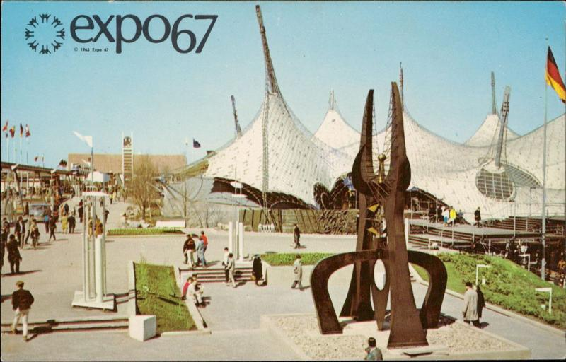 EXPO 67 PAvilion of Federal Republic of Germany FRG Montreal Canada