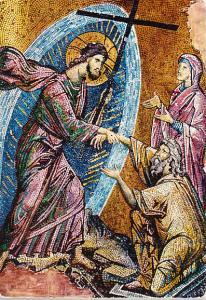 Greece - 14th Century Mosaic Resurrection