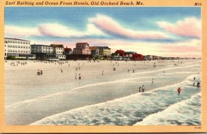 Maine Old Orchard Beach Surf Bathing and Ocean Front Hotels