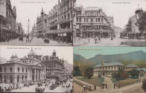 Adderley Strand Street South African Museum Cape Town 4x Old Postcard