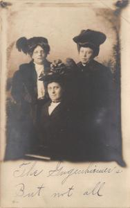RPPC~Gugenhiemer Sisters (But Not All) w/Their Merry Widow Hats~C1912 Postcard