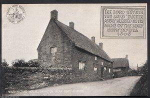 Northamptonshire Postcard - Washington's House, Brington, Nr Northampton A8587