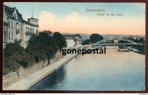 dc1228 - GERMANY Saarbruecken 1910s Partie an der Saar