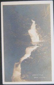 Upper Falls Buck Hill Falls PA Real Photo Postcard