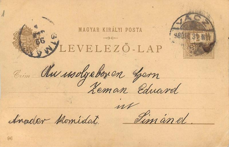 Hungary / Slovakia Beczko Trencsén Sztrecsno 1899 litho postcard