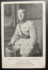 Mint Czechoslovakia Legion Real Picture Postcard RPPC Otakar Husak