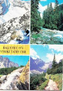 Slovakia, RALLY FICC 1974 VYSOKE TATRY CSSR, 1975 used Postcard