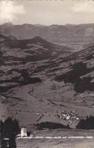 Austria Tirol Alpenrose Huette Blick Auf Westendorf Real Photo