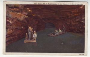 P399 JL 1952 postcard echo river mammoth cave kentucky people boats