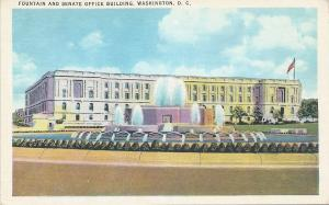 Fountain & Senate Office Building, Washington, D.C., early postcard