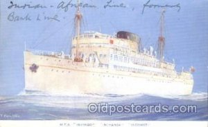 M.T.S. Isipingo, Inchaga, Incomati Ocean Liner, Oceanliner Ship Writing on ba...