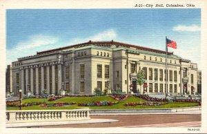 Ohio Columbus City Hall Curteich