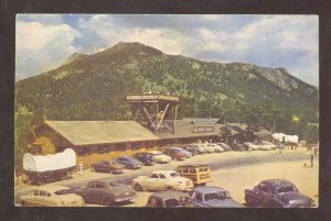 ROCKY MOUNTAIN NATIONAL PARK COLORADO DEER RIDGE CHALET CAR VINTAGE POSTCARD