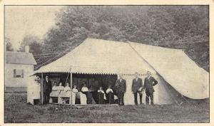 Evangelists Tent Meeting Scene Real Photo Antique Postcard K7876524