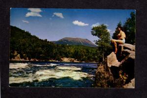 ME Mt Mount Katahdin Baxter State Park West Branch River Maine Postcard