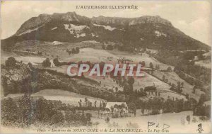 Old Postcard Auvergne Illustree near the Mont Dore and the Bourboule Puy Gros