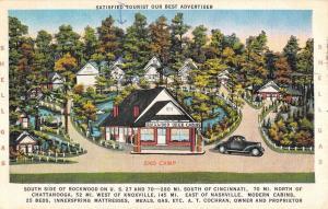 Rockwood Tennessee Brick Tourist Camp Street View Antique Postcard K84371